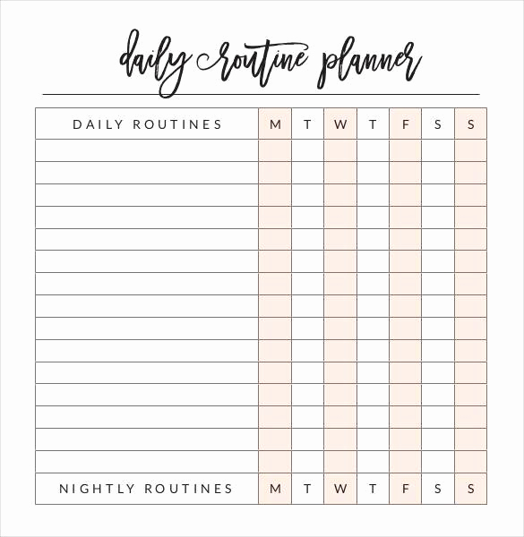 Daily Schedule Template Pdf Elegant 30 Daily Planner Templates Pdf Doc