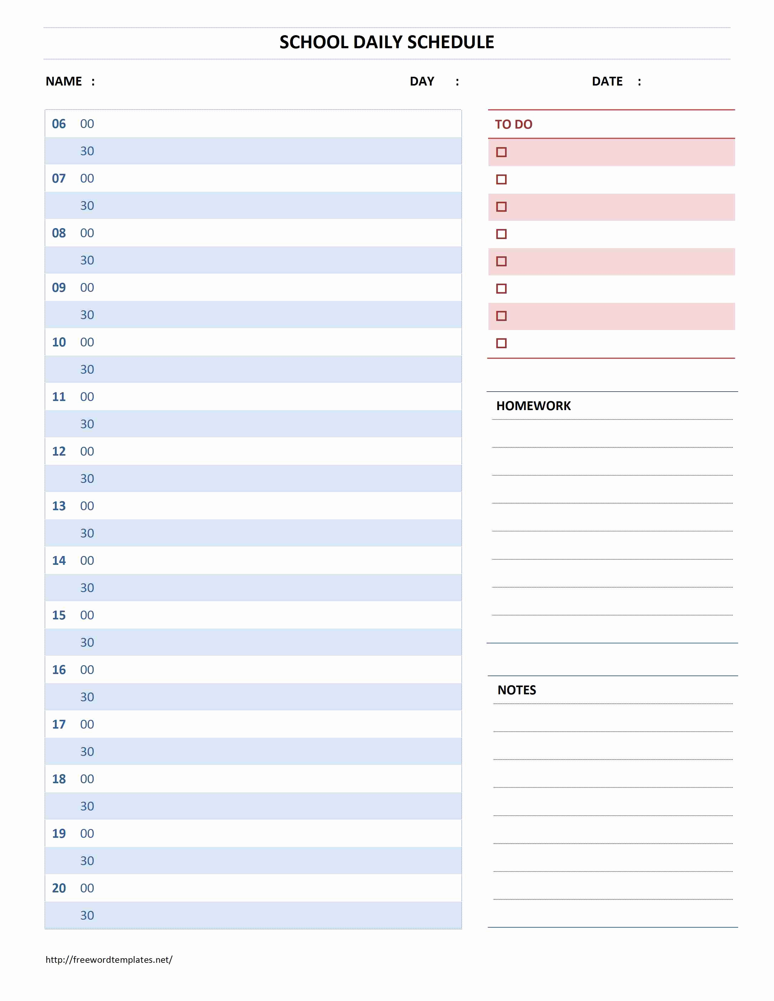Daily Schedule Template Word Best Of Planner Archives