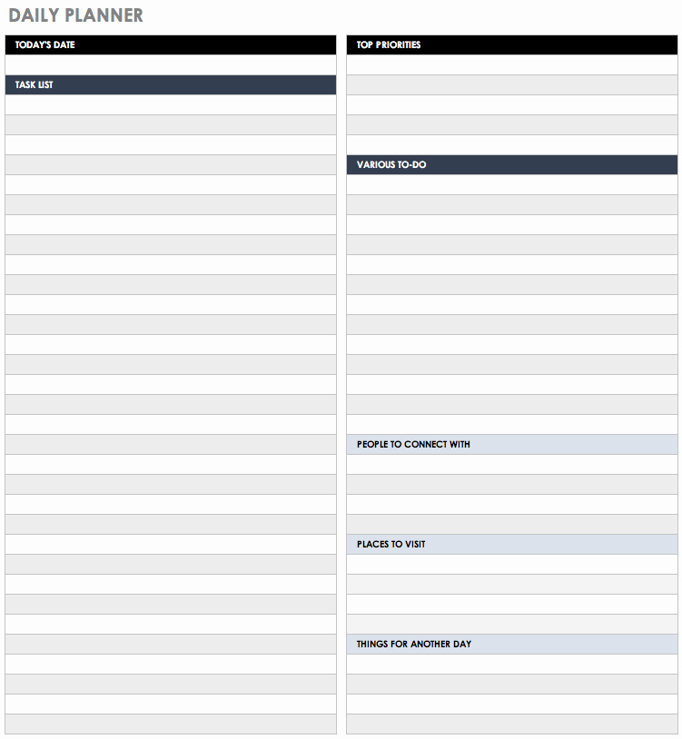 Daily Task List Template Awesome 30 Free Task and Checklist Templates