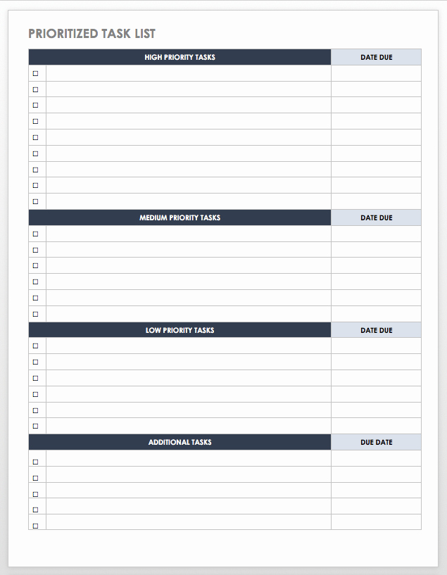 Daily Task List Template Elegant 28 Free Time Management Worksheets