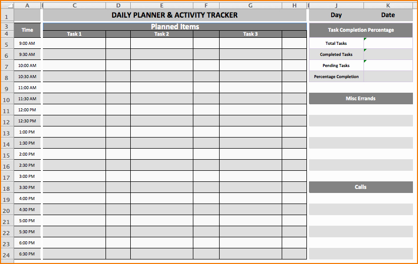 Daily Task List Template Lovely 6 Daily Task List Template