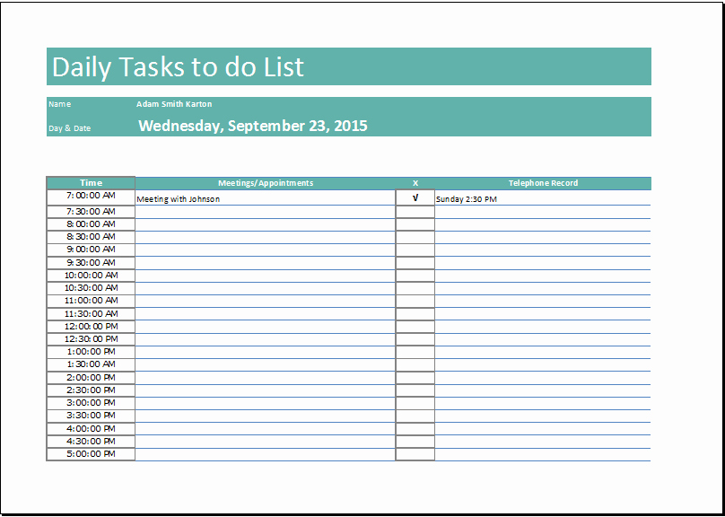 Daily Task List Template Lovely Daily to Do List Templates – Emmamcintyrephotography