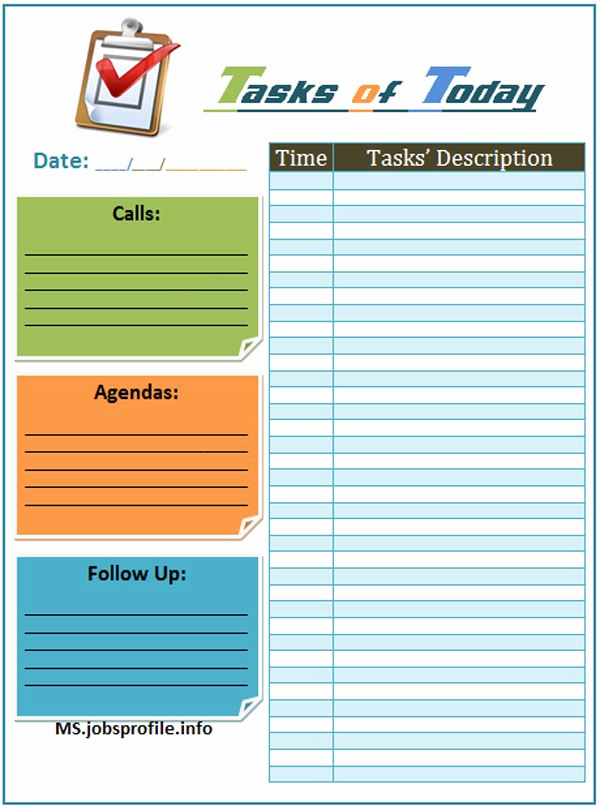 Daily Task List Template Luxury Daily Task List Template Daily Planners