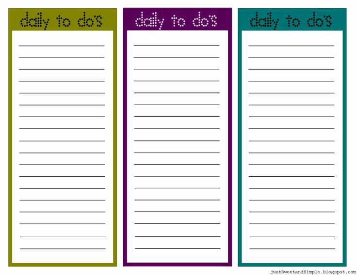 Daily Task List Template Unique Printable Task List