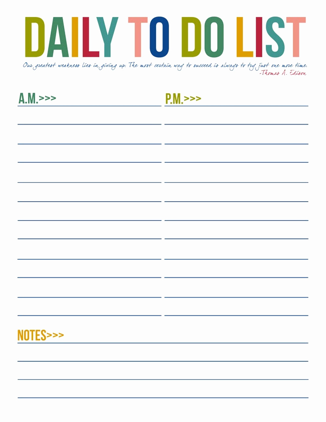 to do list free printables