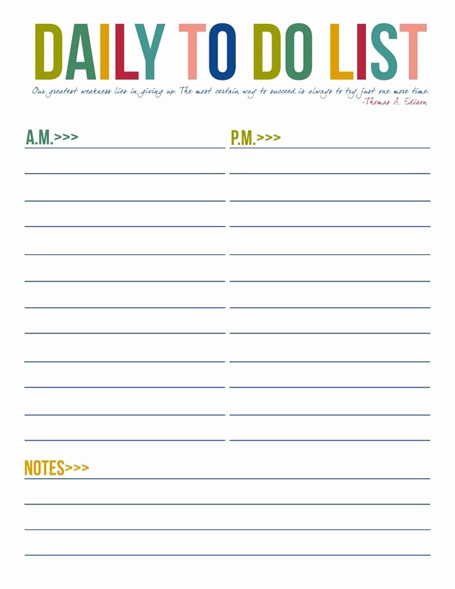 Daily to Do List Templates Luxury to Do List Free Printables organization