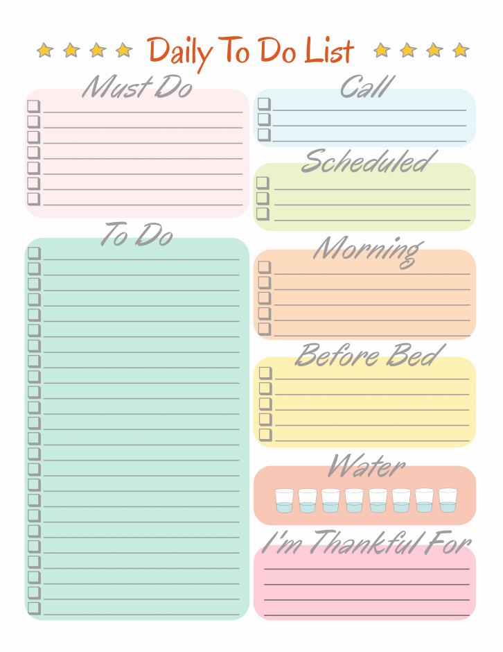 Daily to Do List Templates Unique Daily to Do List Free Printables