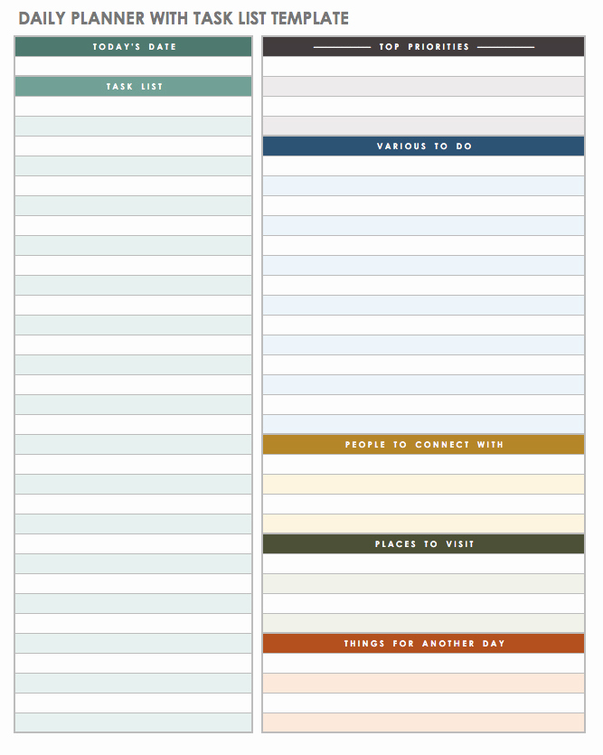 Daily todo List Template Elegant 5 Daily to Do List Printable Templates 2019