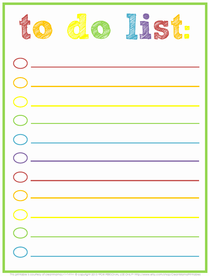Daily todo List Template Luxury 3 Free Printable to Do Lists to Jumpstart Your