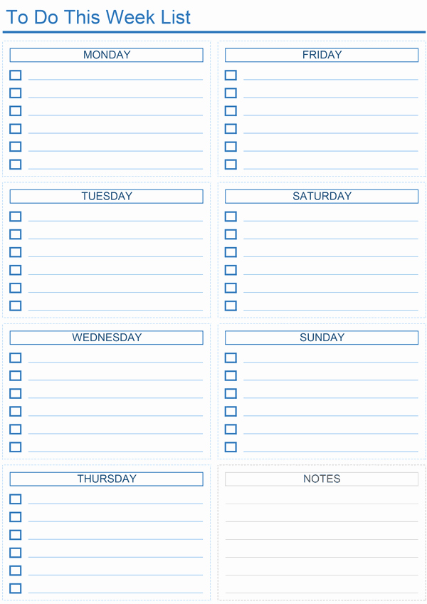 Daily todo List Template New Daily to Do List Templates for Excel