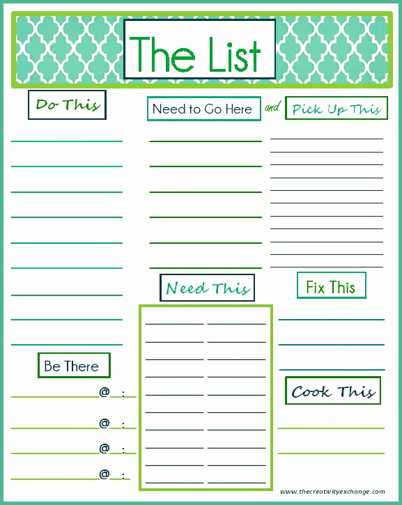 "Daily todo List Template New Free Printable ""to Do"" List"