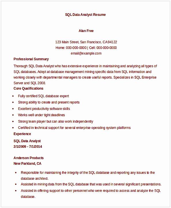 Data Analyst Resume Entry Level Awesome Data Analyst Resume Entry Level