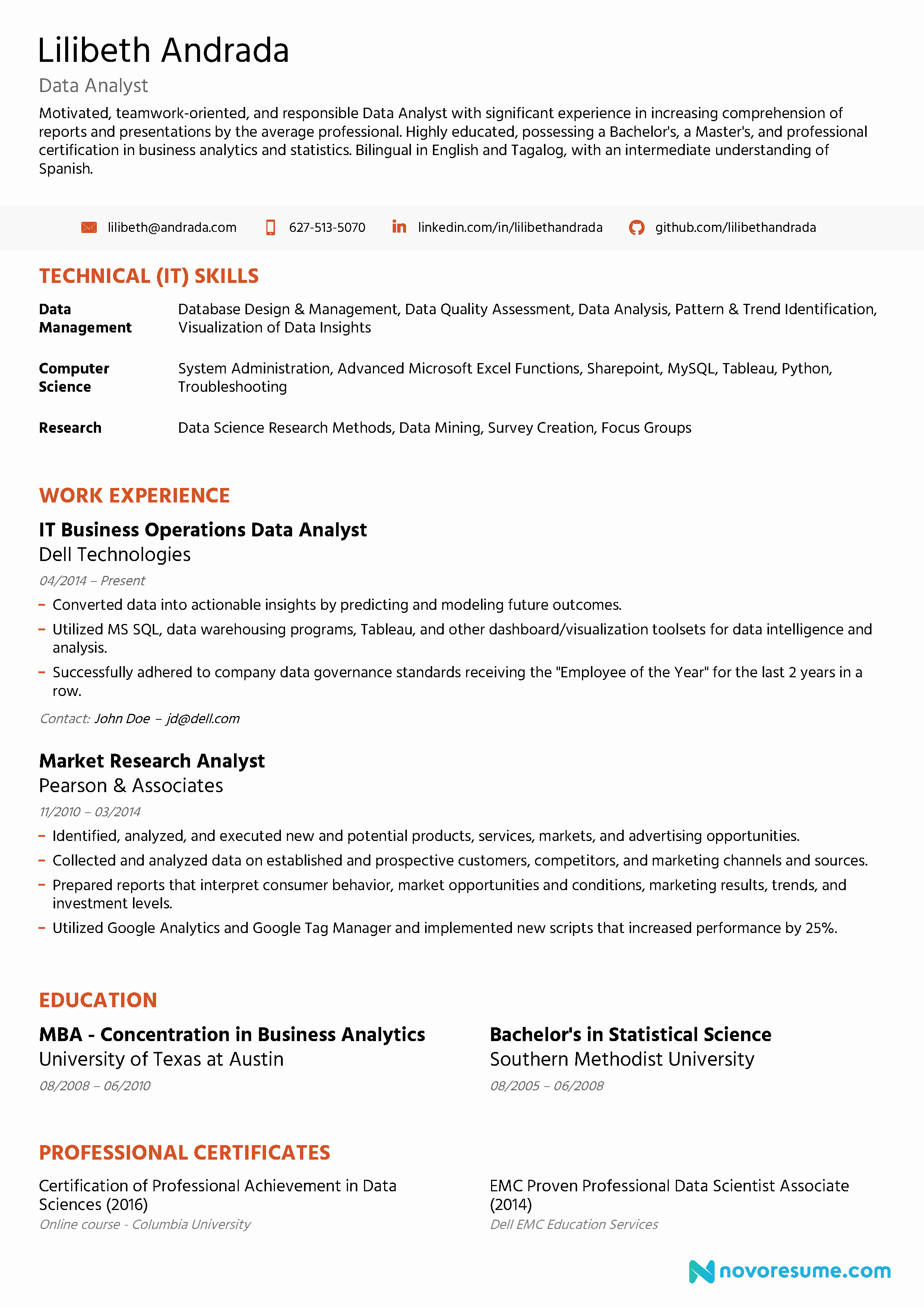 Data Analyst Resume Entry Level Elegant Data Analyst Resume [2019] Guide & Examples