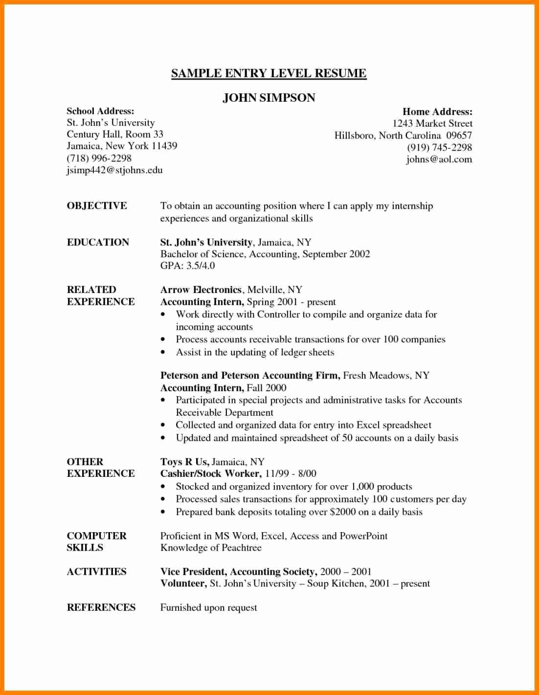 Data Analyst Resume Entry Level Inspirational 29 Last Entry Level Financial Analyst Resume Dt E