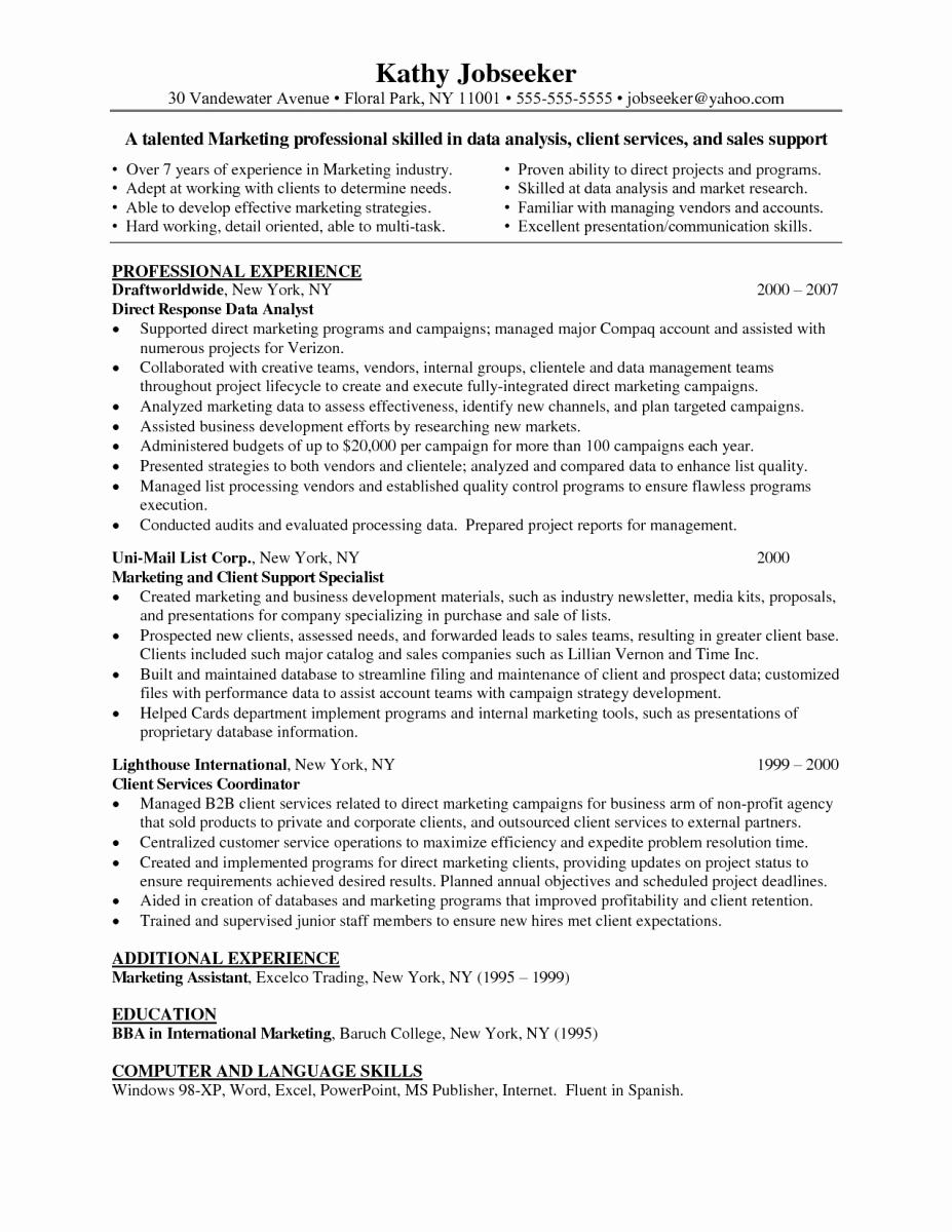 Data Analyst Resume Entry Level New Clinical Data Analyst Cognizant Resumes – Perfect Resume