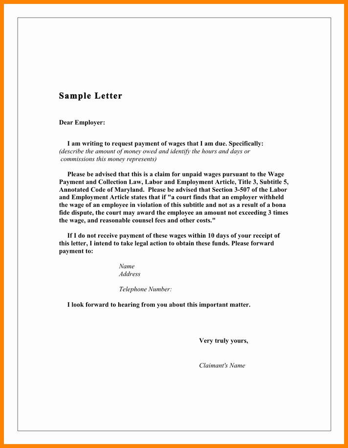 Demand Letter for Money Owed Luxury 5 Demand Letter for Money Owed