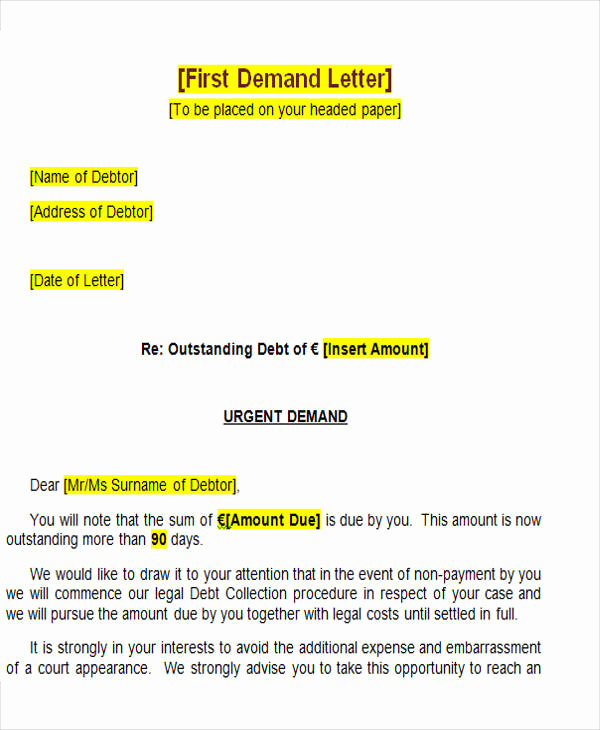 Demand Letter for Payment Elegant 39 Demand Letter Samples Pdf Google Docs Apple Pages