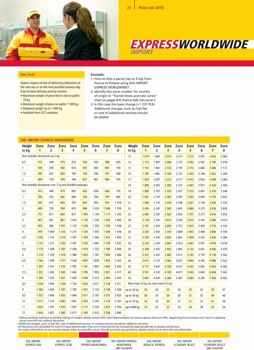 Dhl Shipping Cost Per Kg Elegant Price List 2015 International Services Price List Pdf