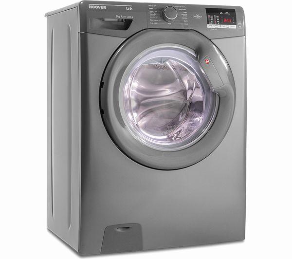 hoover link dhl 1492dr3r nfc 9 kg 1400 spin washing machine graphite pdt