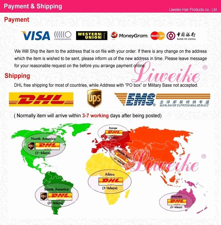 Dhl Shipping Cost Per Kg Luxury Liweike Hair Products Body Wave Virgin Brazilian Hair