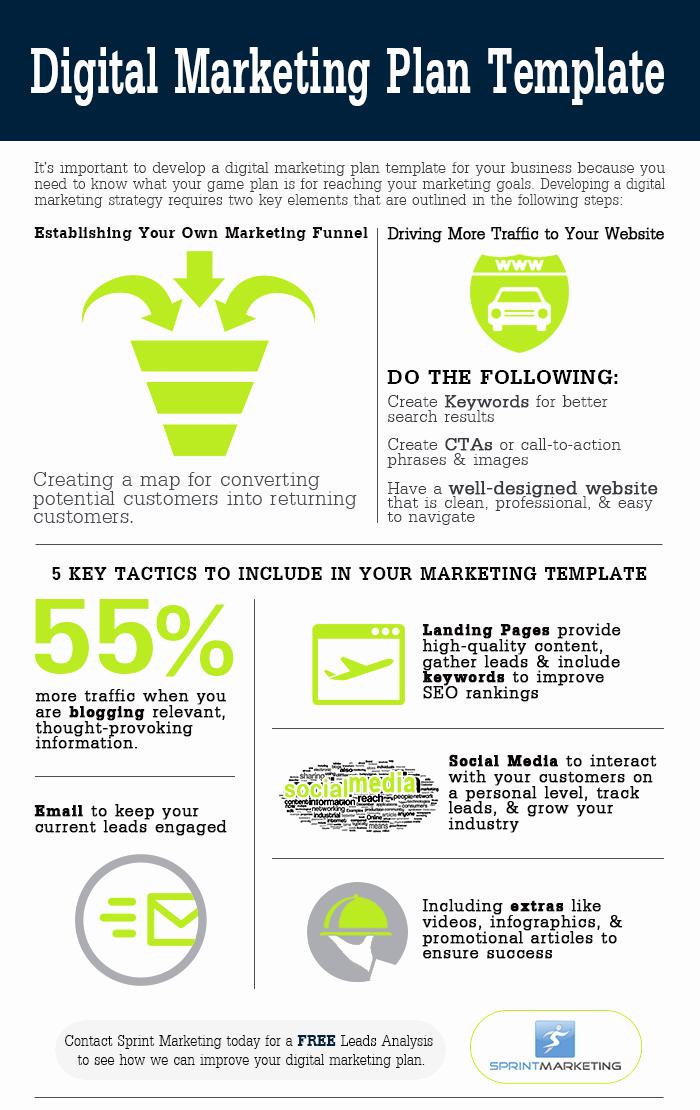 Digital Marketing Plan Template Luxury Digital Marketing Plan Template Infographic