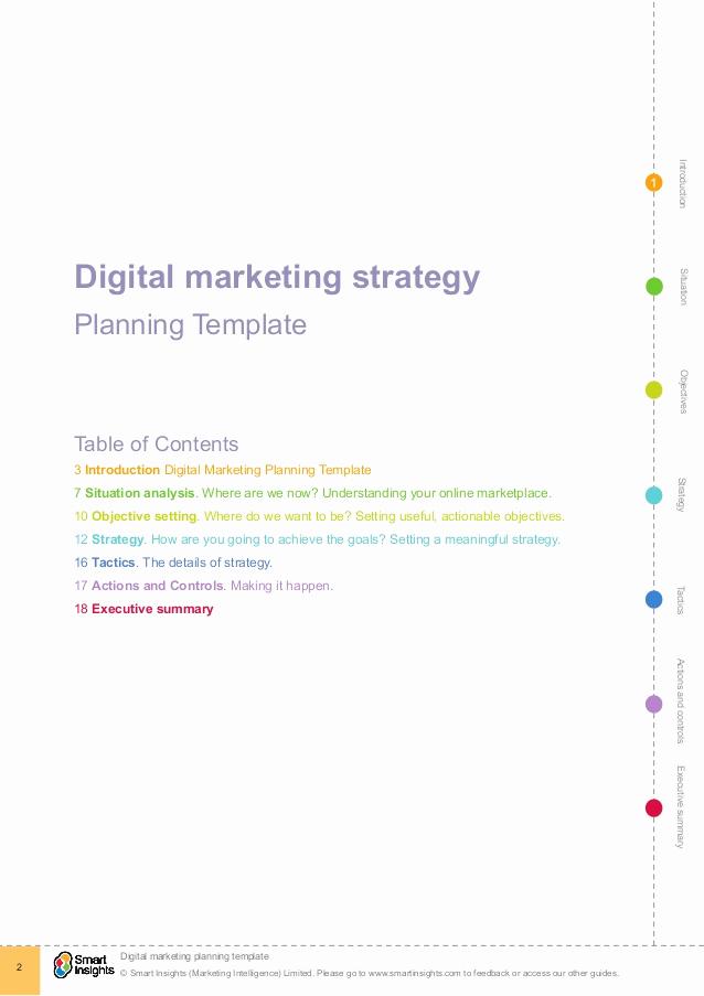 Digital Marketing Plan Template Unique Digital Marketing Plan Template