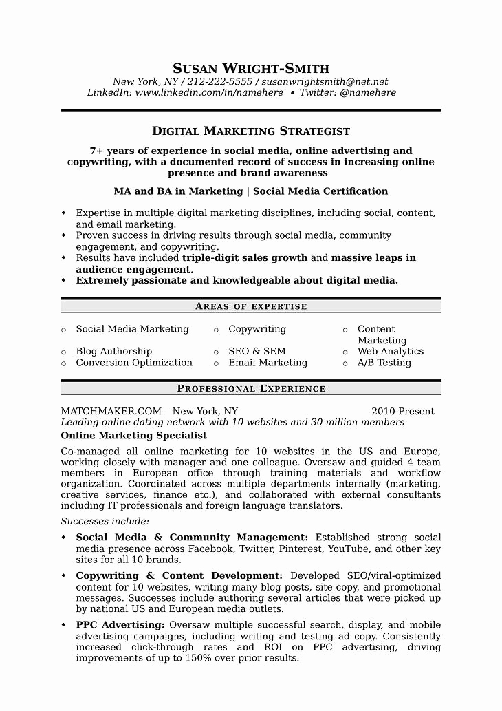 Digital Marketing Resume Sample Luxury How to Write A Marketing Resume Hiring Managers Will