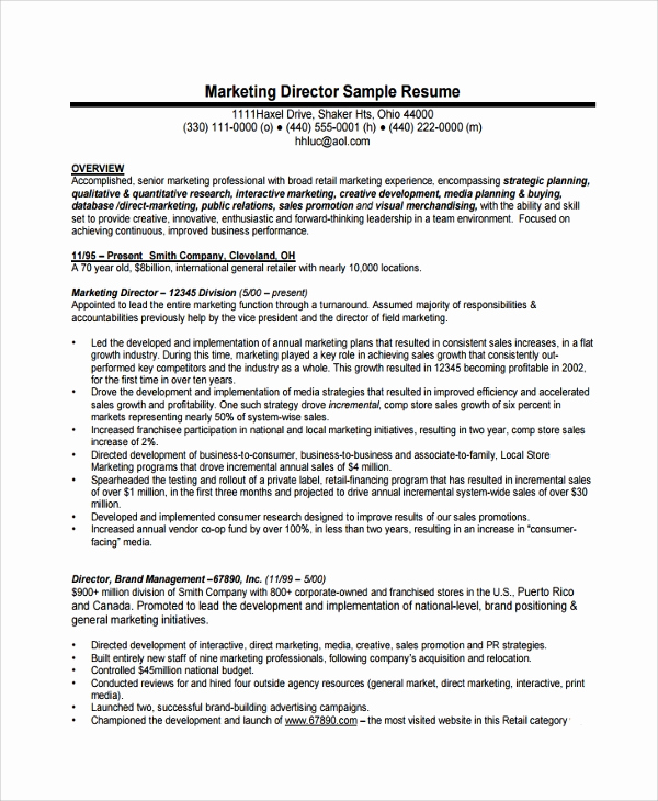 Director Of Operations Resume Best Of 8 Director Of Operations Resumes