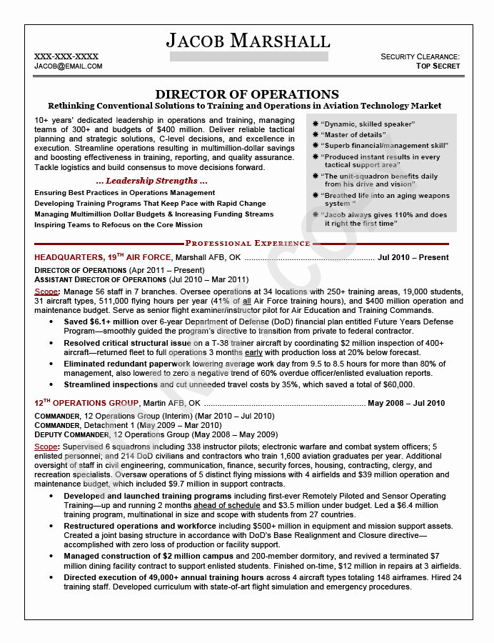Director Of Operations Resume Best Of Executive Resume Sample