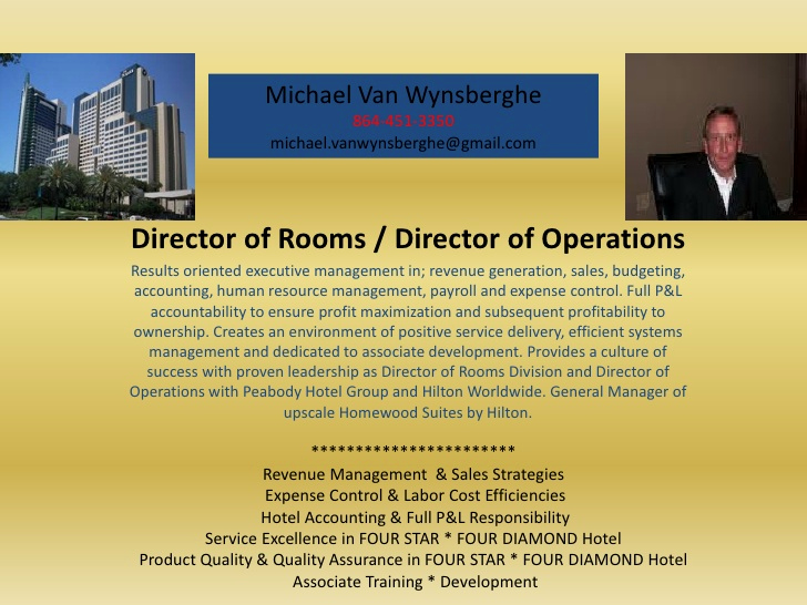 Director Of Operations Resume Fresh Rooms Director Operations Hotel Visual Resume Michael