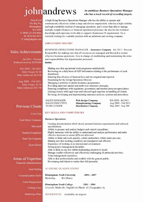 Director Of Operations Resume Lovely Plant Manager Resume