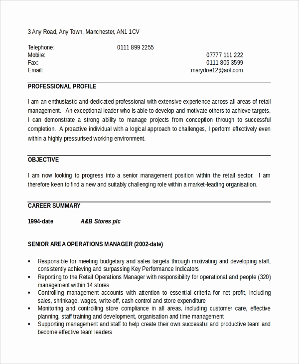 Director Of Operations Resume Luxury 8 Director Of Operations Resumes