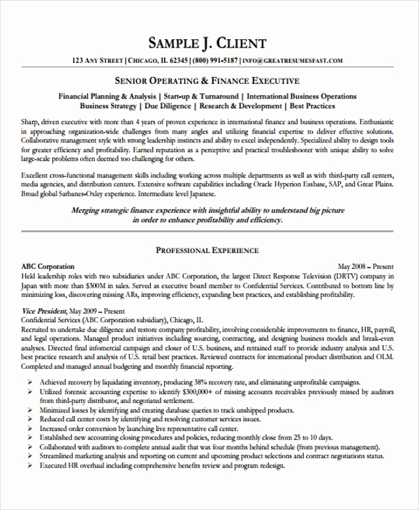 Director Of Operations Resume New 10 Director Of Operations Resume Templates Pdf Doc