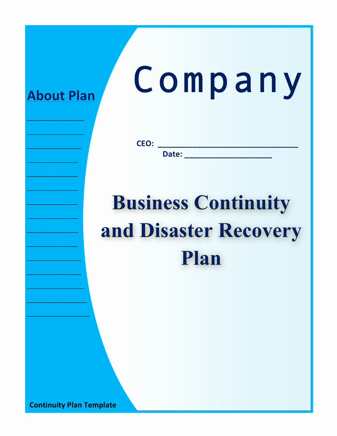 Disaster Recovery Plan Example Pdf Beautiful Business Continuity and Disaster Recovery Plan Template In