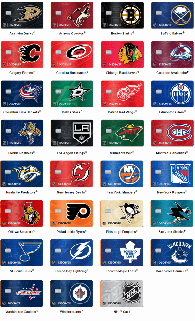 Discover Credit Card Designs Elegant New Discover It Nhl Credit Cards Our Review Doctor