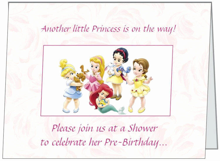 Disney Baby Shower Invitations Awesome Ur Words Disney Princess Baby Girl Shower Invitations