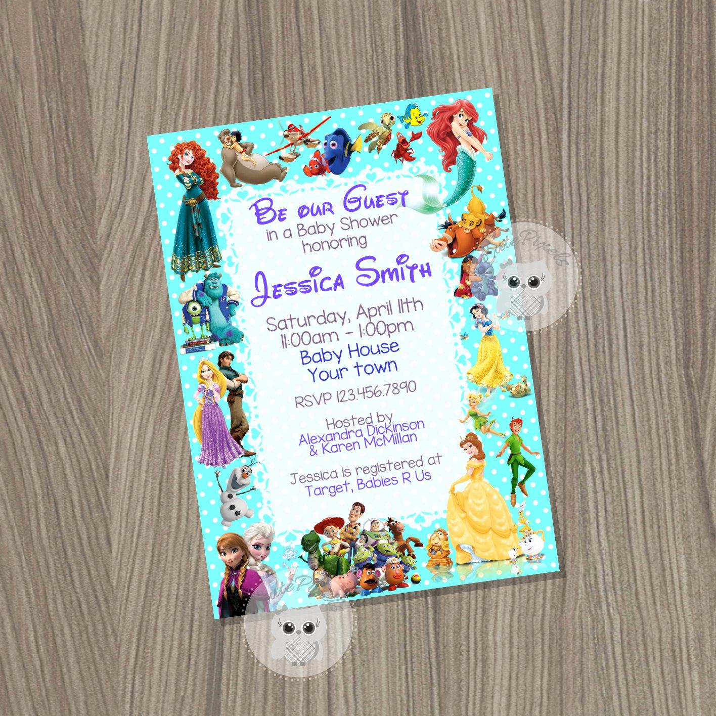 Disney Baby Shower Invitations Best Of Baby Shower Invitation Disney Baby Shower Baby Shower Baby