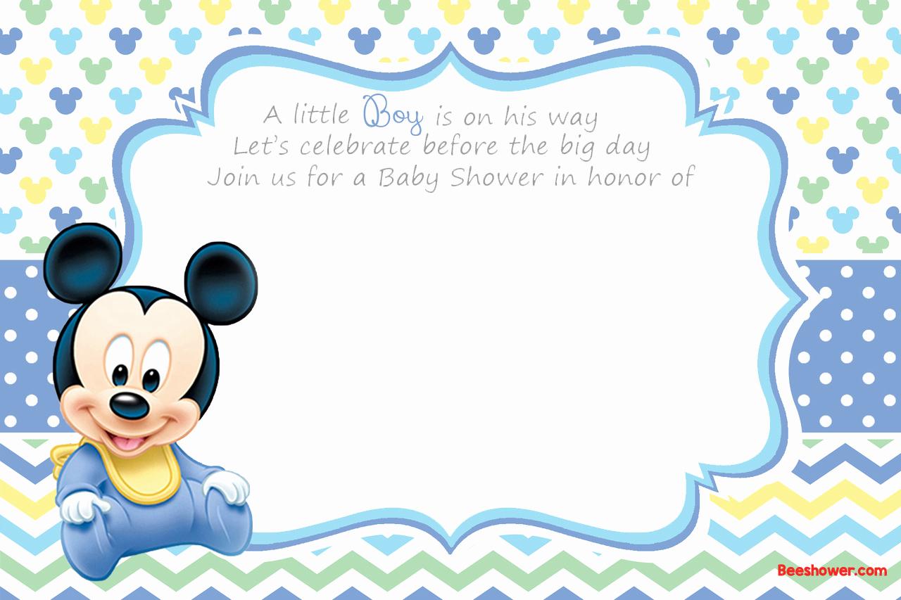 Disney Baby Shower Invitations Elegant Free Printable Disney Baby Shower Invitations
