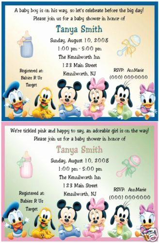 Disney Baby Shower Invitations Elegant Mickey and Minnie Baby Shower theme