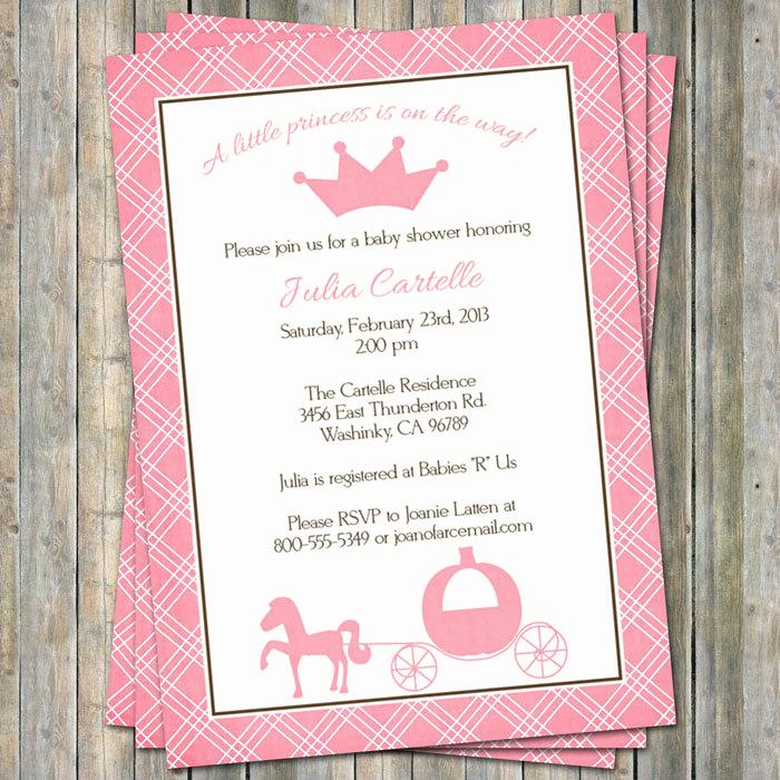 Disney Baby Shower Invitations Fresh Disney Princess Baby Shower Invitations Templates – Party Xyz