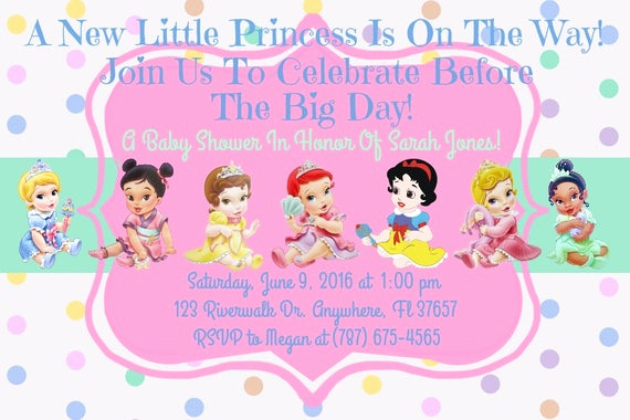 Disney Baby Shower Invitations Fresh Princess Disney Baby Shower Invitation Download Disney