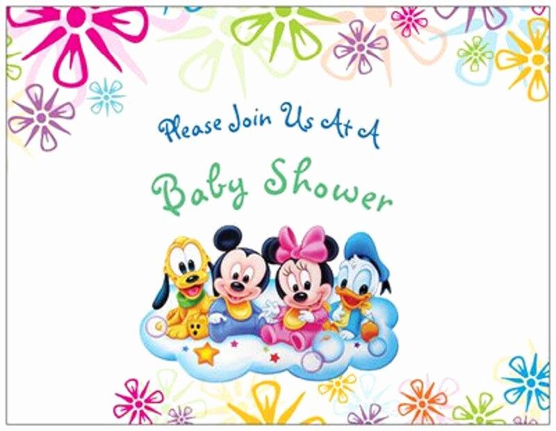 Disney Baby Shower Invitations Inspirational 20 Mickey Minnie Donald Disney Baby Shower Invitations