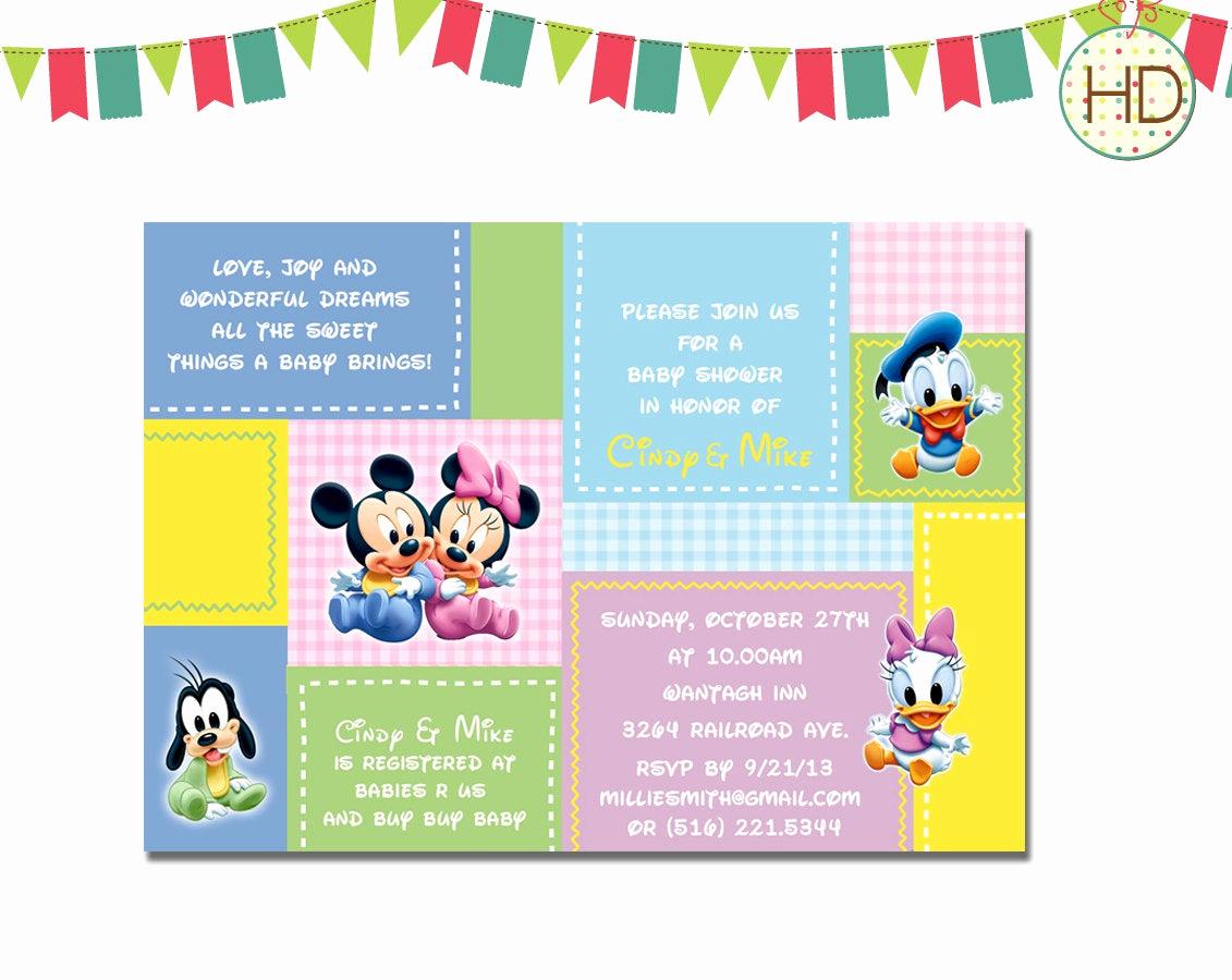 Disney Baby Shower Invitations Lovely Disney Baby Shower Invitation Disney Castle Baby by
