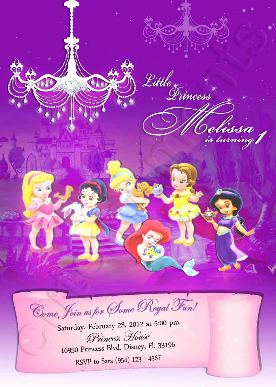 Disney Baby Shower Invitations Luxury Disney Baby Princess Personalized Digital Invitation with