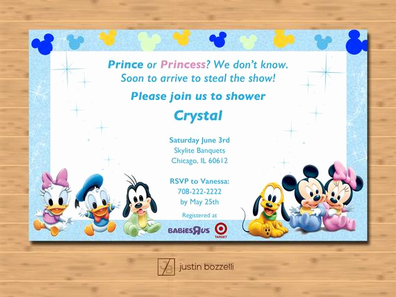 Disney Baby Shower Invitations Luxury Disney Baby Shower Invitation Printable Customizable