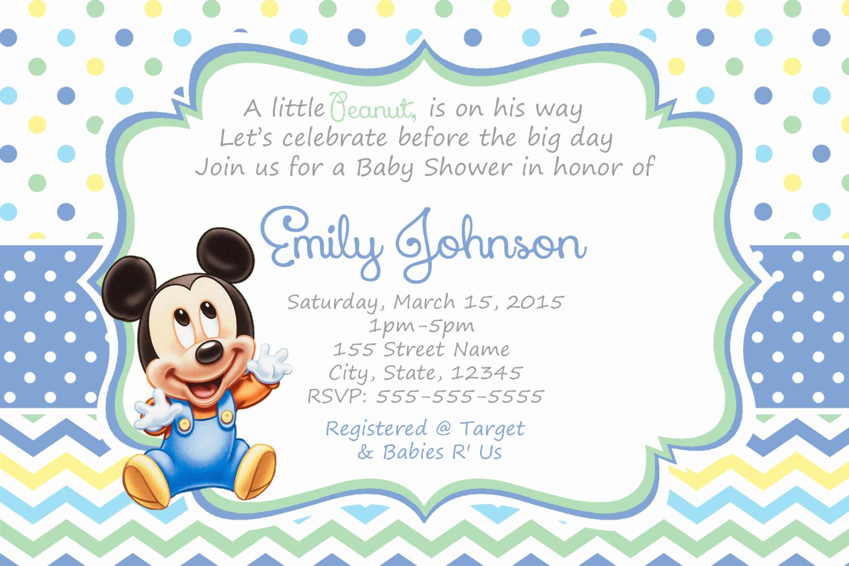 Disney Baby Shower Invitations Luxury Mickey Mouse Baby Shower Invitations Baby Mickey Shower