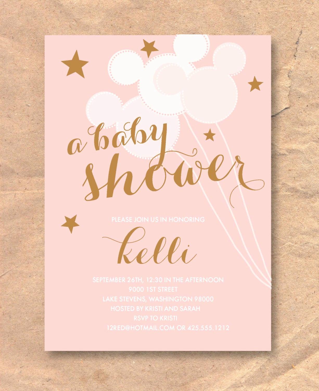 Disney Baby Shower Invitations New Printable Disney Baby Shower Invitation Mickey Balloons