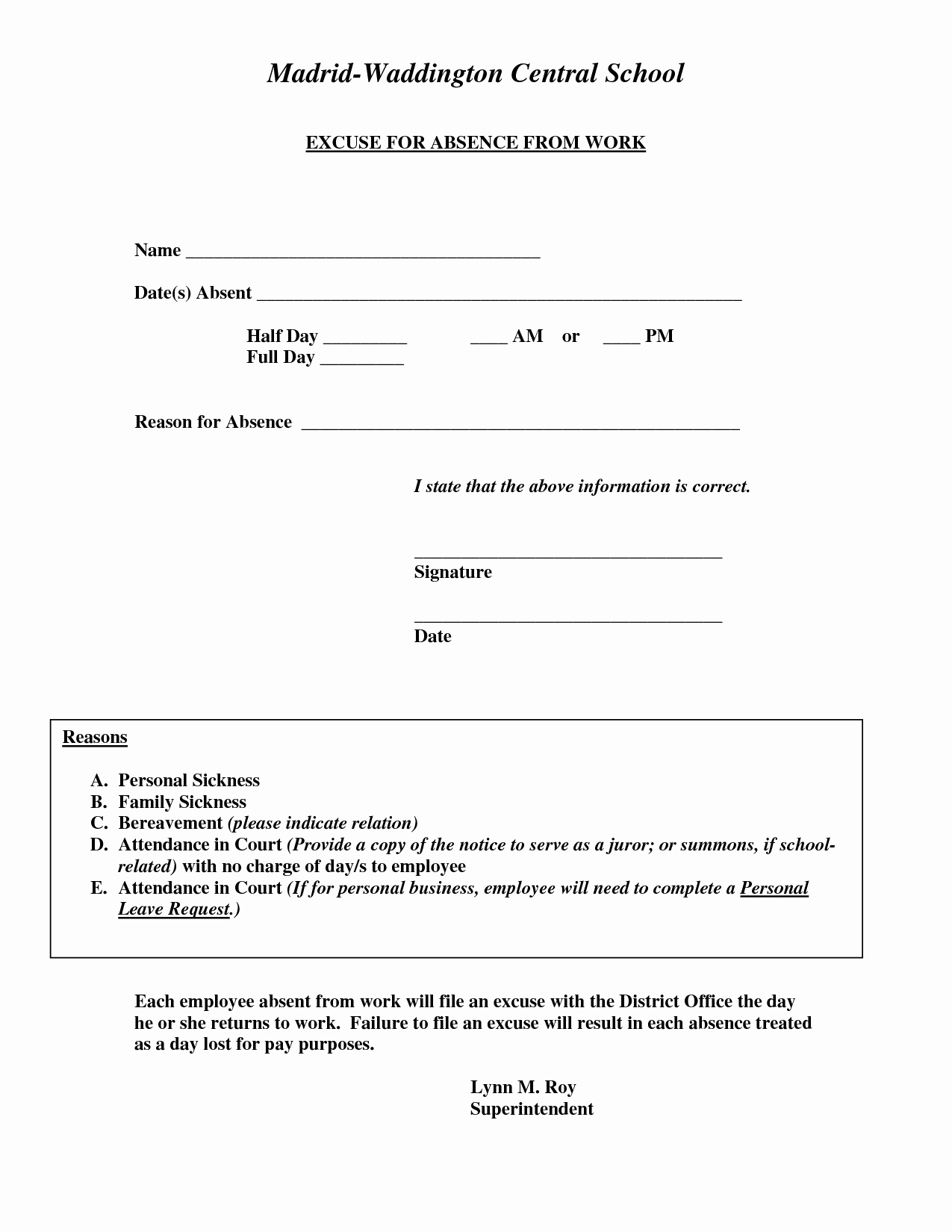 Doctor Excuse for Work Awesome Doctors Excuse for Work Template