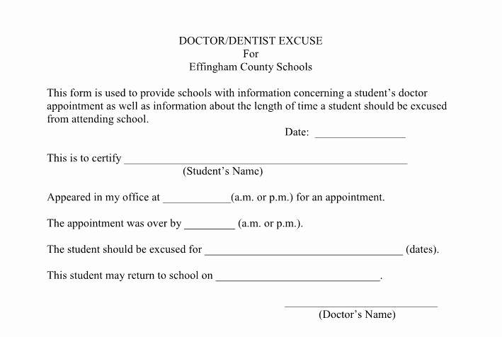 Doctor Excuse for Work Inspirational 25 Free Doctor Note Excuse Templates Template Lab