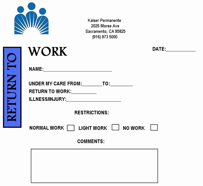 Doctor Excuse for Work Luxury Free Printable Doctor Excuse Notes for Work